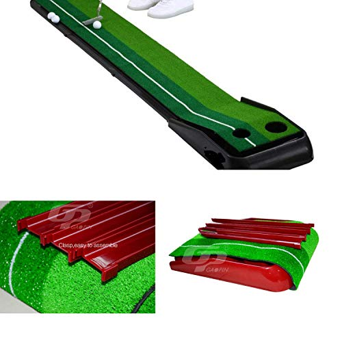 Paradise Treasures Golf Putting Green System Professional Practice Green Long Challenging Putter Indoor/Outdoor Golf Simulator Training Mat Aid Equipment Gift for Dad (1.5ftx10 auto Return Green) by Paradise Treasures (Image #5)