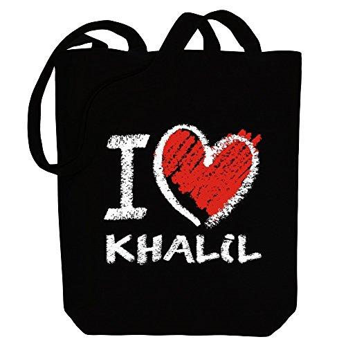 style love Tote Names Canvas Male Idakoos Bag Khalil chalk I Baxw1TIq