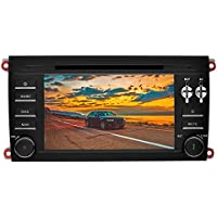 YINUO 7 inch 2 Din Android 7.1.1 Quad Core Car Stereo HD Touch Screen Car Radio Receiver DVD GPS Navigation for PORSCHE cayenne 2003-2010,Free Mic 8GB Map Card