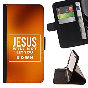 Momo Phone Case / Flip Funda de Cuero Case Cover - BIBLIA Jesús no le permitirá Abajo; - Sony Xperia Style T3