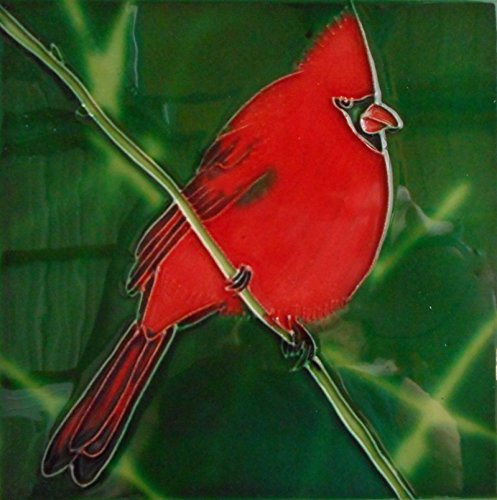 - Tile Craft cardinal art ceramic tile 6x6 inches with easel back