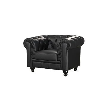 mueblespacio Sofa Chester 1 plaza semi piel - MSD15184221 ...