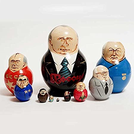 Vladimir Putin and other Russian Political Leaders Matryoshka Nesting Doll