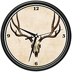 SignMission Deer Skull Wall Clock Decor Animal Antlers Hunting Gift, Beagle