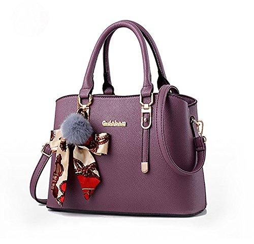 Mujer De Big Señora El Bolso Nuevo Clothes Hombro Bolsa La Personalidad Moda Purple Color Versión Coreana Bag nEO7qXU