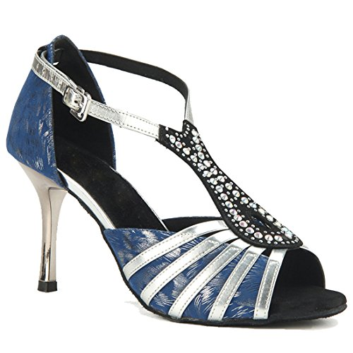 Abierta MGM Mujer Joymod 5cm Sintético Punta Blue Heel 8 de vAngOAxS