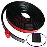 Partsman Co. Multipurpose Flexible Self-Adhesive Rubber Molding 20 ft - Protective Stripping - Edging - Trimming