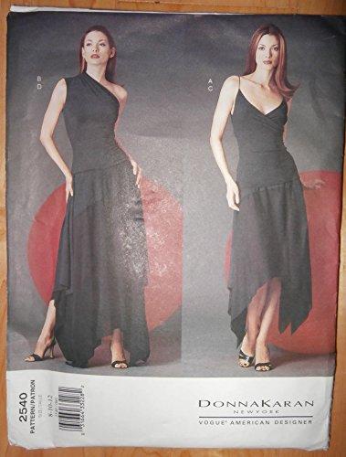 Vogue Sewing Pattern #2540 UNCUT Sizes 8-10-12 Donna Karan Collection (Uncut Vogue Sewing Pattern)