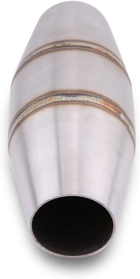 Universal Exhaust Pipe,Motorcycle 35-51mm Full Exhaust System Stainless Steel Exhaust Pipe for Street//Sport Motorcycles and Scooters Silver