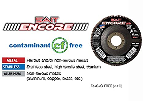 United Abrasives-SAIT 71226 Type 27 Encore Flap Disc 5-Inch x 7//8-Inch Z 40X 10-Pack