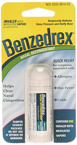 - Benzedrex Inhaler Propylhexedrine Nasal Decongestant, 12 Count