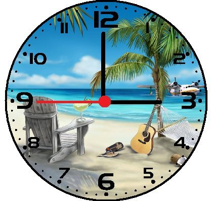 51wZdmnSGPL The Best Beach Wall Clocks You Can Buy