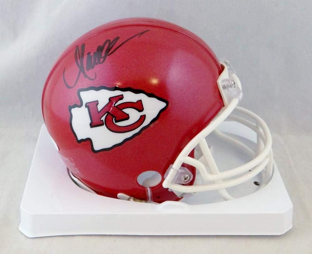 Marcus Allen Autographed Kansas City Chiefs Mini Helmet JSA Auth Black
