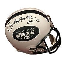 "Curtis Martin Autographed New York Jets 10080 Replica Helmet ""hof "" - JSA Certified - Autographed NFL Helmets"