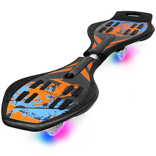 Enkeeo Caster Board with Hand Grip , Illuminating PU Casters and Carrying Pouch