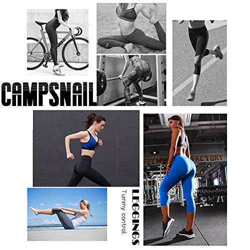 CAMPSNAIL Plus Size High Waisted Leggings for Women Yoga Pants Seamless Capri Leggings Compression Athletic Workout Leggings (US 14-24(Plus Size), Elephant)