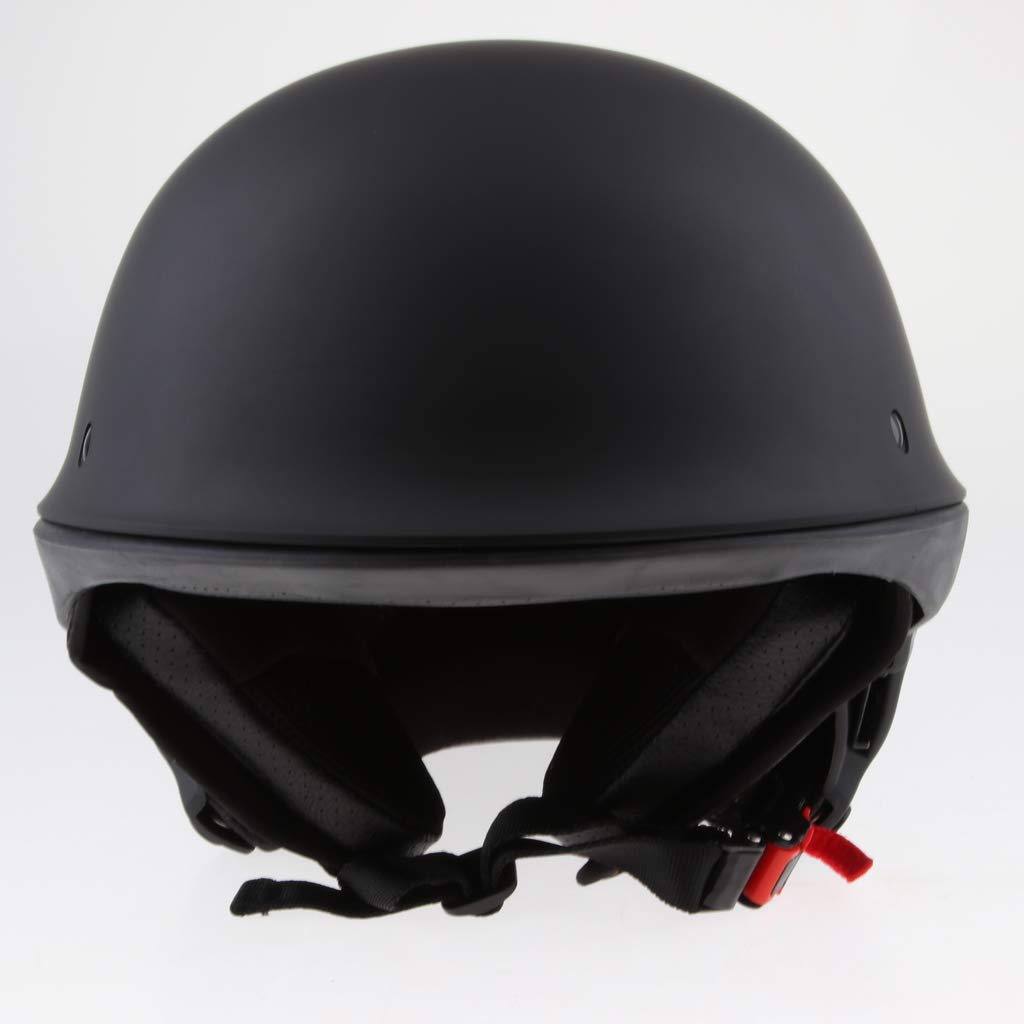 Homyl Street Bobber Chopper Motorcycle Half Helmet S-XXL DOT Approved Matte Black M