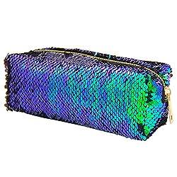 Reversible Sequins Makeup Bag Pencil Pouch