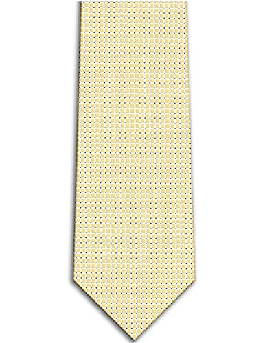 Mens Tie KissTies Champagne Gold Blonde Solid Grid Necktie Pure Color Tie