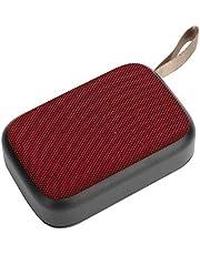 مكبر صوت بلوتوث مع مضخم صوت، ستيريو لاسلكي محمول USB صغير مع راديو إف إم، مكبر صوت صغير للمنزل، في الهواء الطلق/السفر، يدعم المكالمات أو القرص U (أحمر)