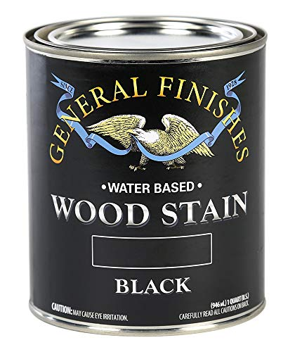 (General Finishes WBQT Water Based Wood Stain, 1 Quart, Black)