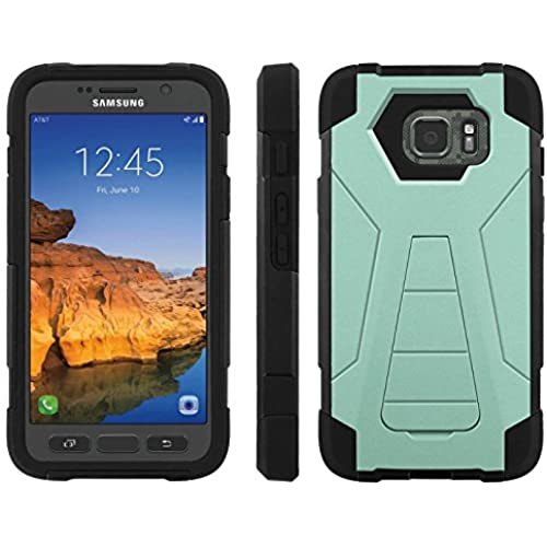AT&T [Galaxy S7 Active] ShockProof Case [ArmorXtreme] [Black/Black] Hybrid Defender [Kickstand] - [AquaMarine] for Samsung Galaxy [S7 Active] Sales