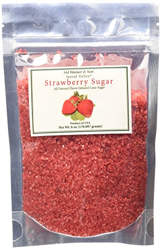 Jansal Valley All Natural Flavor Infused Cane Sugar, Strawberry, 6 (Strawberry Sugar Cookies)