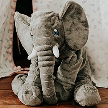 buddy plush bylla the large elephant stuffed animal 2 feet long soft plush toys games. Black Bedroom Furniture Sets. Home Design Ideas