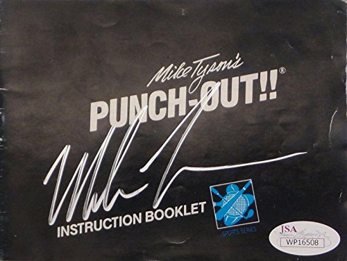 Mike Tyson Nintendo Punch Out Signed Autographed Game Manual Authentic 1 - JSA Certified - Autographed Boxing Miscellaneous Items