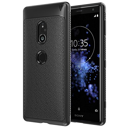 MoKo Compatible with Sony Xperia XZ2 Case, Slim Lightweight Flexible TPU Gel Bumper Cover Protective Shockproof Anti-Scratch Back Panel Fit with Sony Xperia XZ2 5.7 Inch 2018 - Black