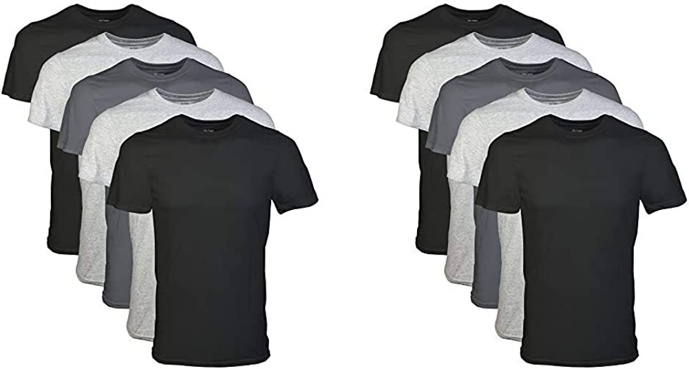 Gildan Men's Crew T-Shirt X-Large New product type 5 Pack Assortment Max 67% OFF