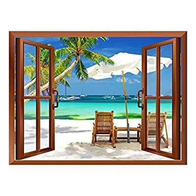 Tropical Beach Scenery Removable Wall Sticker/Wall Mural - 36