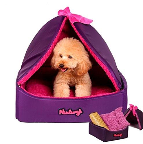 Dog Cat Puppy Bed Tent Pet Cooling Mattress   Cushion Sets  L  Purple