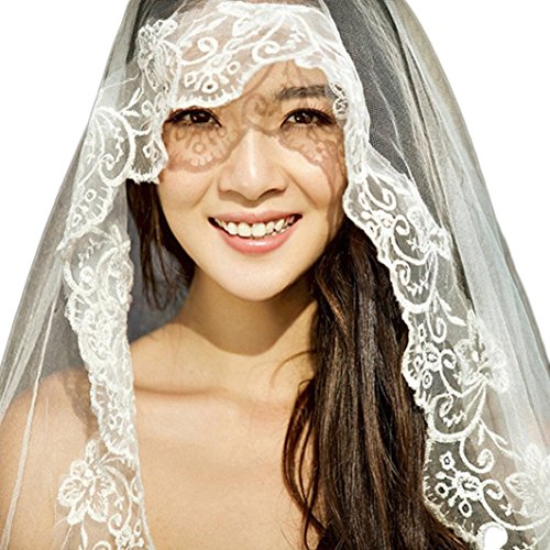 Butmoon Women's 1 Layer Lace Edge 3 Meters Long Wedding Veil