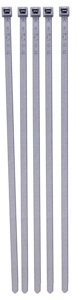 Pearl Automotive PTW08 - Fascette fermacavo per copricerchi, confezione da 100, colore: Argento