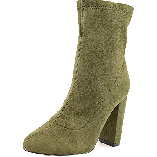 High Heel Army Boots (LFL by Lust For Life Women's Macey Army Suedette Boot 8 B (M))