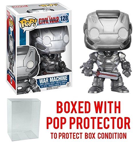 Funko Pop! Marvel: Captain America Civil War - War Machine Vinyl Figure (Bundled with Pop BOX PROTECTOR CASE)