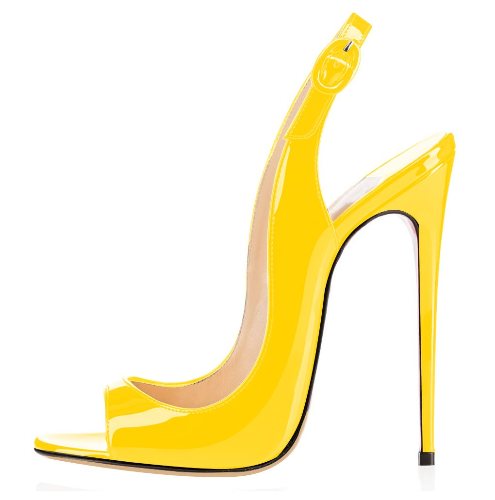 elashe Femmes Artisan Fashion Sandales Décolletés Bout Ouverts Chaussures Sandales Ouverts 19910 à Talon Haut de 120mm Jaune 973313c - reprogrammed.space