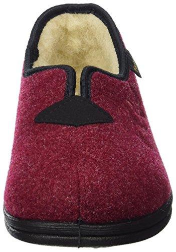 341 Fischer Donna Pantofole Rosso Dora bordo qnFBw4ap