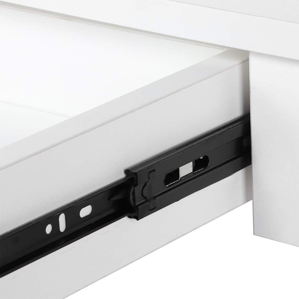 Table PC en Bois Blanche Bureau avec Tiroir Haute Qualit/é Table de Travail d/Étude /à la Maison 100 x 50 x 66cm Ejoyous Table dOrdinateur Bureau Informatique