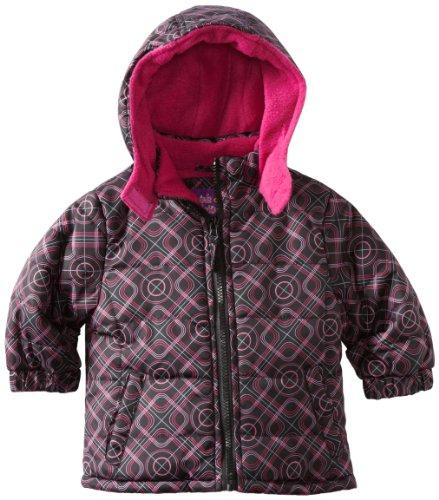 Pink Platinum Baby Girls' Promo Puffer Geo Printed Jacket