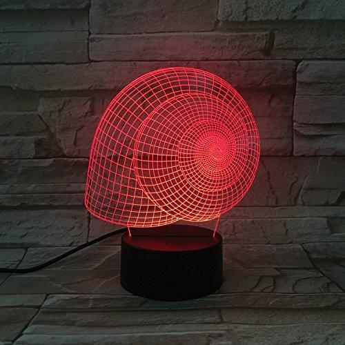 Animal 3D luz de noche, caracoles 7 colores luz de noche 3D, panel de acrílico luces de visión 3D remotas o táctiles,...