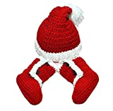 Newborn Baby Photography Prop Crochet Costume Santa Claus Hat Shoes Outfits By Xselector