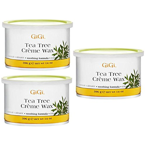 GiGi Tea Tree Creme Wax Soothing Formula 14 oz (3 pieces)