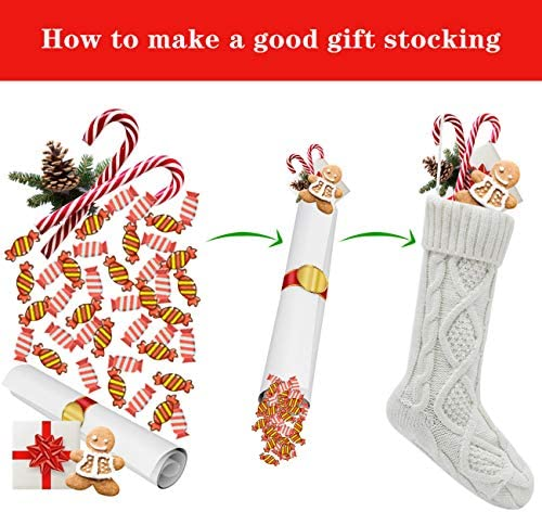 HEYHOUSE Christmas Stockings,Pack of 4 18inches Christmas Stocking Personalize Knit Decorations for Family Season D/écor Burgundy