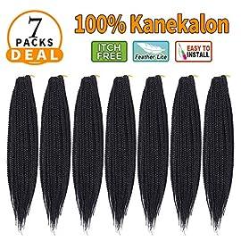 24″-7Packs Thin Box Braids Crochet Hair Synthetic Braiding Hair Extensions Crochet Braids Hair