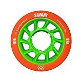 Atom Savant Roller Derby Wheels - Ultra Light For Perfect Speed and Control - New-Available in 88A-97A - With Free Devaskation Bracelet (Orange-97A 8 Pack)