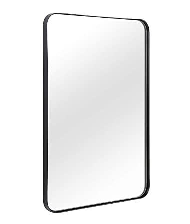 Wall Mirror for Bathroom, Mirror for Wall with Black Metal Frame 22\