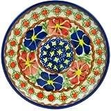 Polish Pottery Saucer 5-inch Paradise Poppy