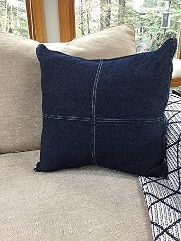 Nautica Seaward Denim 18-inch Decorative Pillow